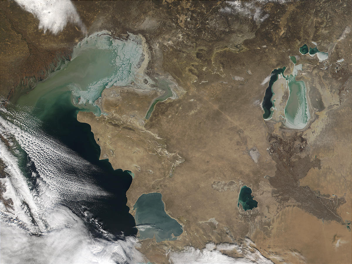 Caspian Sea and Volga River