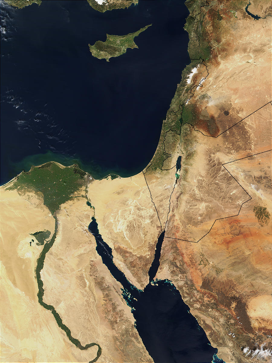 Satellite Images of the Middle East
