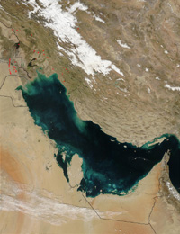 Persian Gulf - January 31, 2003 (MODIS)