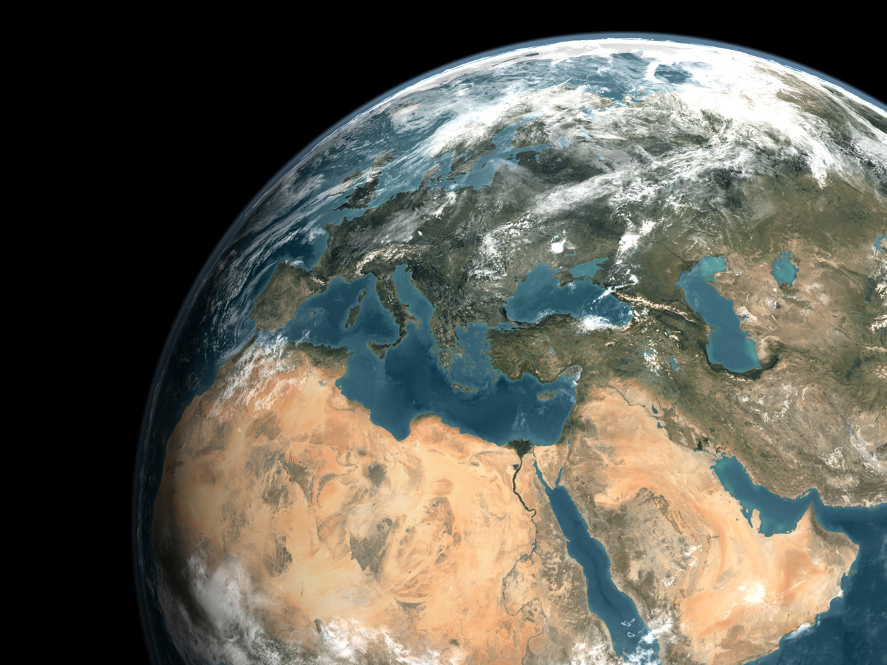 Satellite Images Of The Middle East تصاوير ماهواره اي ازخاور میانه - Middle east satellite map