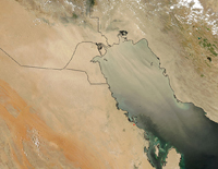 Dust Storm over the Persian Gulf | Satellite: Aqua - MODIS (May 17, 2007)