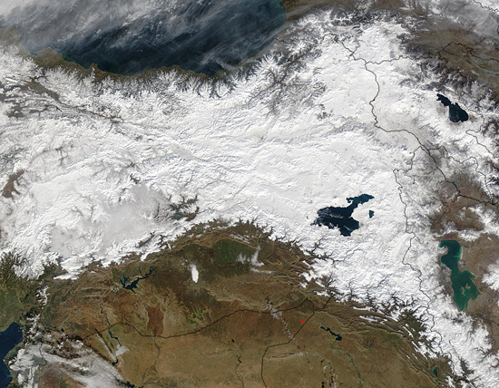 Snow in eastern Turkey