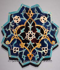 Tile from Greater Iran - 15th Century - LACMA 2009 - by QH