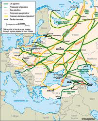 Major Oil and Gas Pipelines to Europe - EIA 2010