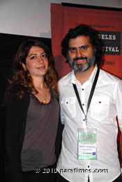 Director Hossein Keshavar & Producer Maryam Azadi at the Premiere of Dog Sweat - LA (June 26, 2010)