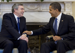 President Barack Obama and Prime Minister Gordon Brown meeting in the Oval Office (March 3, 2009) WH Photo