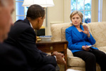 President Obama Speaking With Hillary Clinton at the White House - Public domain image