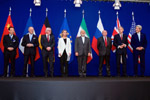 Secretary Kerry Poses for a Photo With P5+1 Leaders and Iranian Foreign Minister Zarif Following Negotiations About Future of Iran's Nuclear Program - USDOS Photo (April 2, 2015)