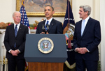 President Barack Obama announces the nomination of Sen. John Kerry - Dec. 21, 2012, White House Photo