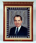 Tapestry Portrait of President Nixon