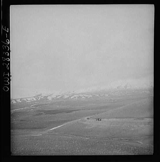 Somewhere in the Persian corridor. A United States Army truck convoy carrying supplies for Russia