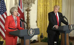 President Donald Trump and British PMM Theresa May Joint Press Conference - White House Video capture - January 27, 2017