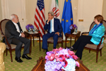 Secretary Kerry Participates in a Trilateral Meeting With EU High Representative Ashton and Iranian Foreign Minister Zarif - USDOS Photo (September 26, 2014)