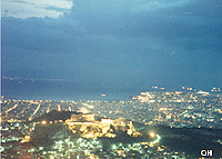 Acropolis after sunset - Spring 1993 by QH