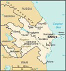 Map of Azerbaijan - CIA World Fact Book