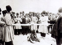 Flogging was one of the most common instruments of punishment in Iran. Photo by Antoin Sevruguin - Qajar Era