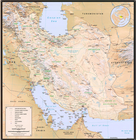 Country Profile Wall Map - 2004