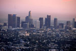 Downtown LA view from Griffith Observatory, by QH