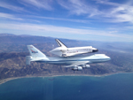 The space shuttle Endeavour over Ventura, California September 21, 2012 - NASA