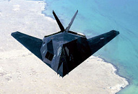 An F-117 flies over the Persian Gulf - Courtesy of US Air Force