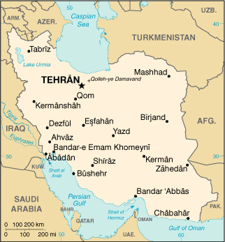 Tehran Middle East Map.Maps Charts