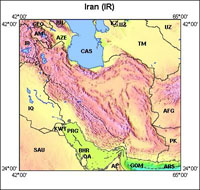 USGS Full Resolution Map of Iran