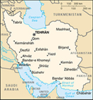 Map of Iran - CIA World Fact Book