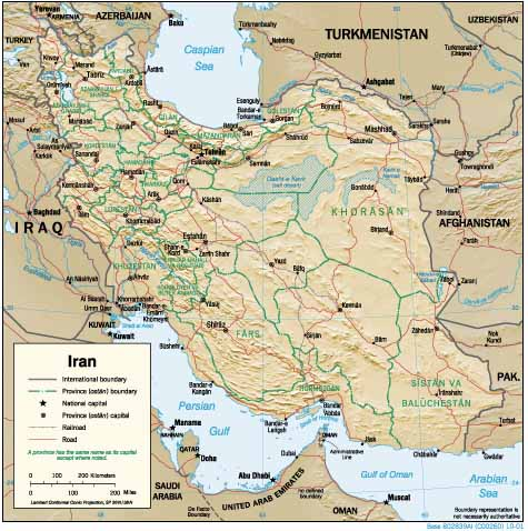 Iran maps charts small map 2001 cia gumiabroncs Image collections