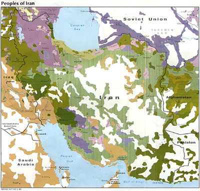 Ethnolinguistic Map of Iran (CIA)