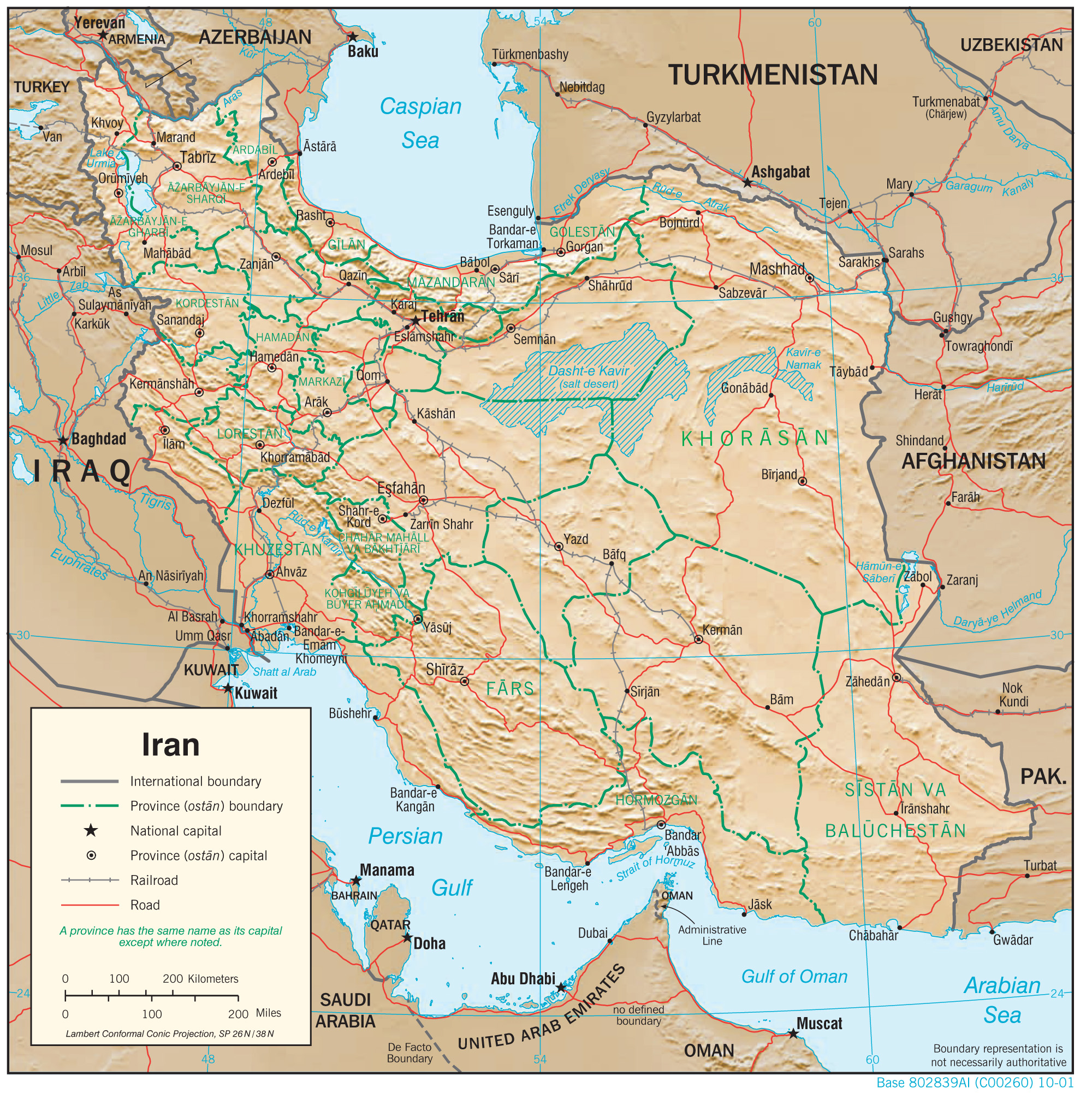 Iran geography iran physiography 2001 cia gumiabroncs Image collections