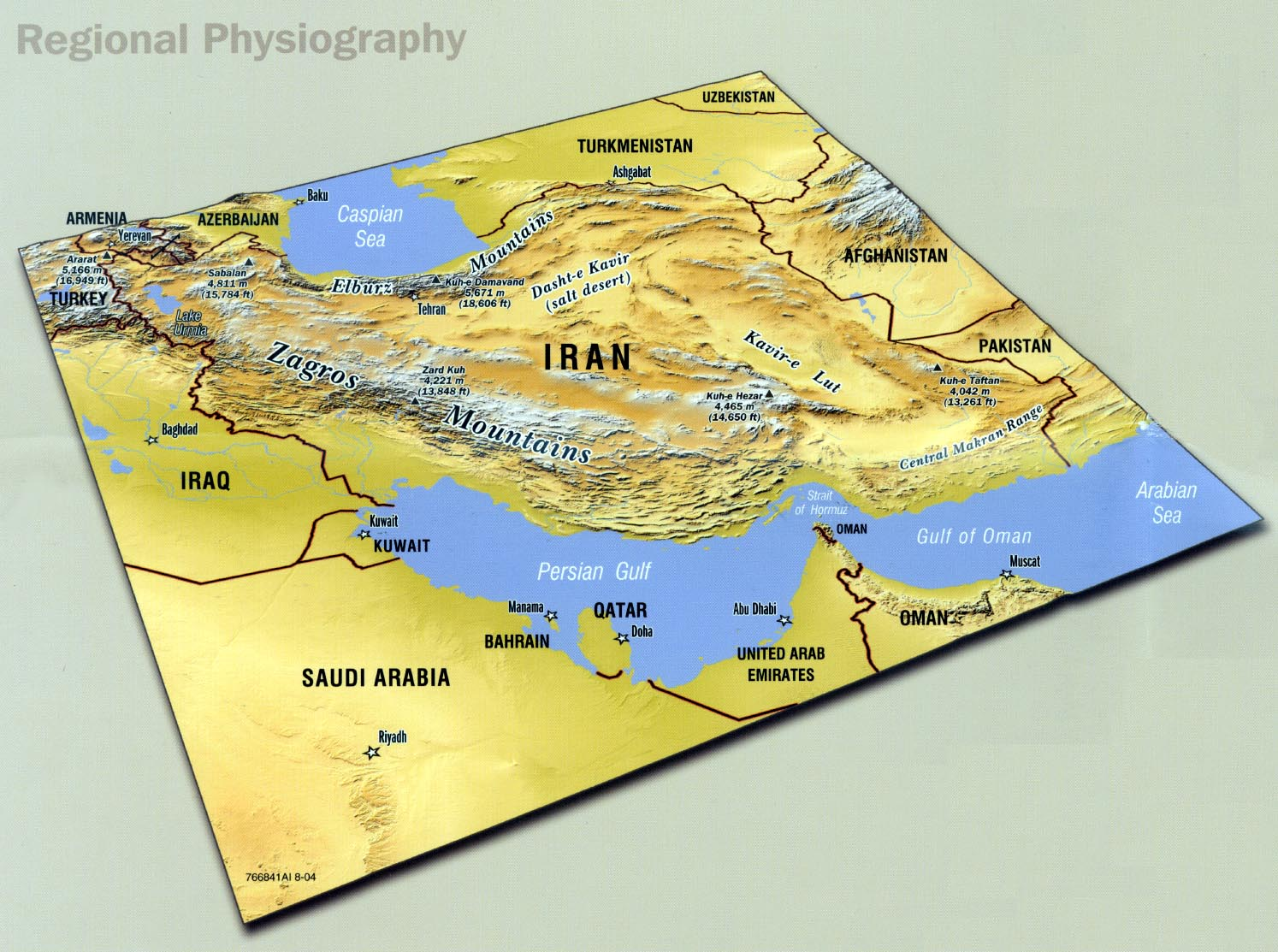 Iran maps charts regional physiography ciaut scan gumiabroncs Choice Image