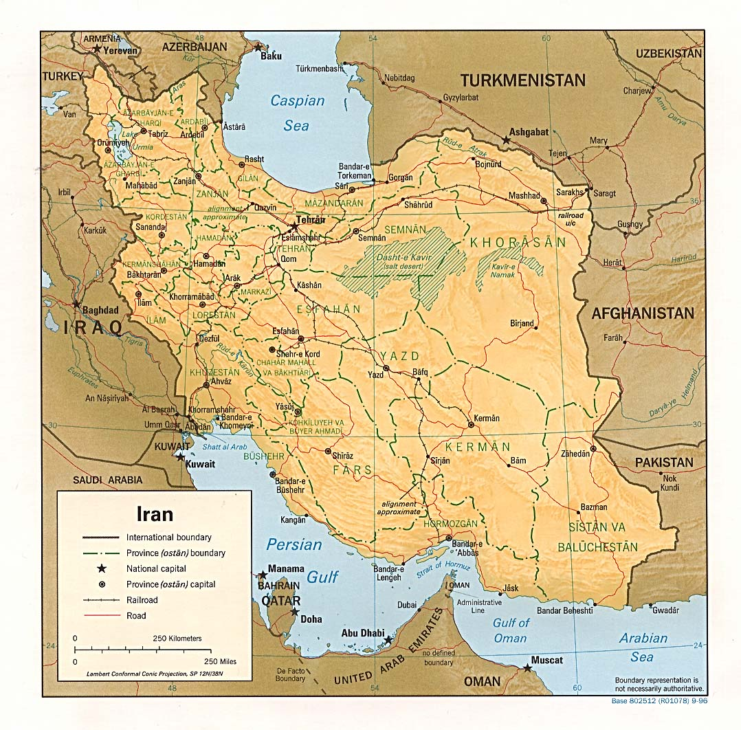 Iran Travel – Iran Tourist Attractions Map