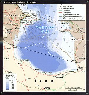 Southern Caspian Energy Prospects (portion of Iran). Country Profile 2004.