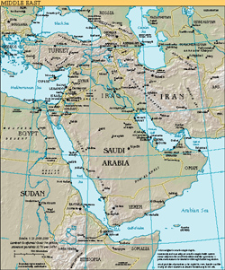 Detailed Map of the Middle East