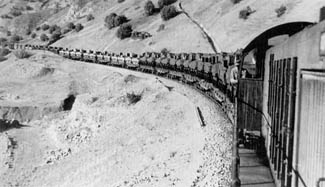 Supply train in the Persian corridor en route to the Soviet Union, loaded with armored  vehicles