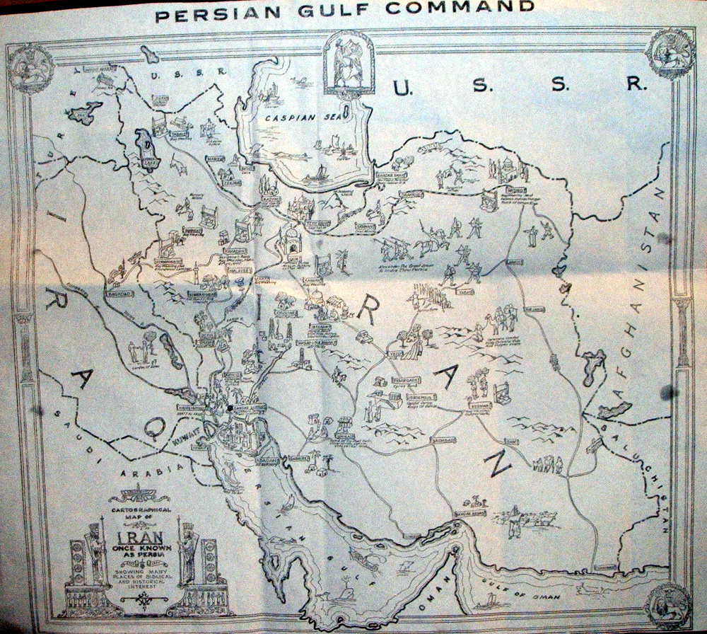 persian gulf command map pgc s military railway was backbone of russian supply line us dispatch august 1 1945