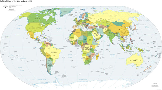 Political Map of the World 2003 - 66 KB (CIA)
