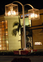 Rodeo Drive at night, Beverly Hills, by QH