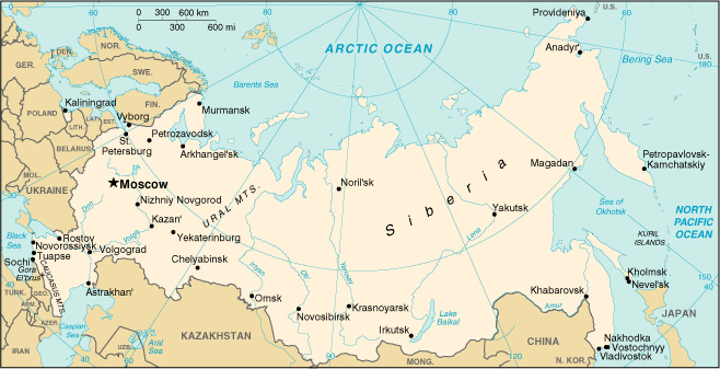 map of russian federation. A Guide to Russian