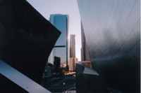 View of Downtown LA from Walt Disney Conert Hall, by QH
