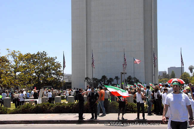 Iranian Demonstration & march in solidarity with people of Iran - LA (June 28, 2009)