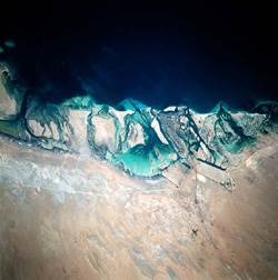 Abu-Dhabi Port Facility, UAE, Persian Gulf - NASA