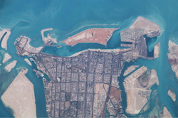 Abu Dhabi from the International Space Station - NASA March 2003