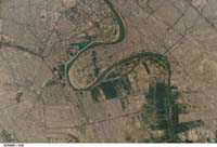 Baghdad, Tigris River - Iraq December 16, 2011 - NASA