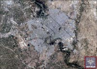 Baghdad, Iraq - Landsat 7 - April 2000