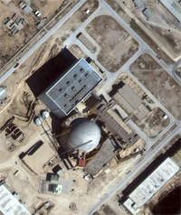 Image of Bushehr Reactor by IKONOS Satellite March 1, 2001 ©spaceimaging.com