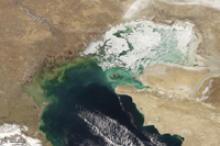 Ice on the Caspian Sea - March 30, 2013