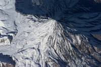 Damavand volcano - 5681 m (NASA)