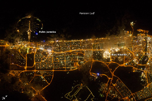 City Lights of Dubai, United Arab Emirates - NASA March 9, 2012