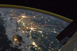 India-Pakistan Borderlands at Night - NASA (August 21, 2011)